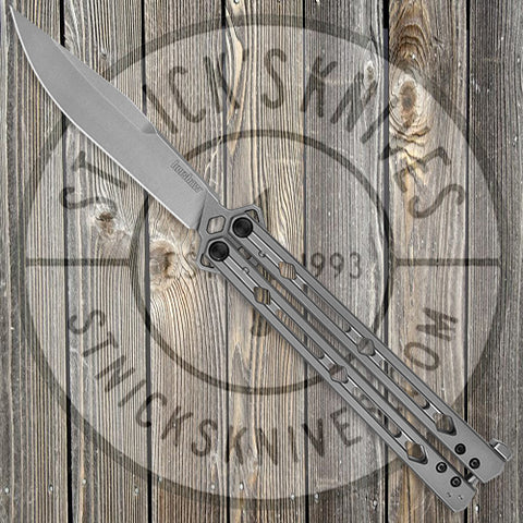 Kershaw Lucha - Balisong - Stainless Steel Handle - 14C28N Blade - 5150