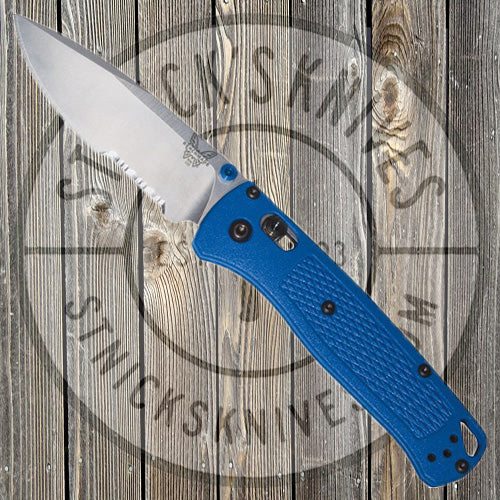 Benchmade - Bugout - AXIS Lock - Blue Grivory - 535S - St. Nick's Knives