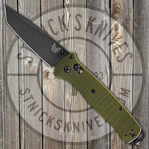 Benchmade - Bailout - M4 Blade - Tanto - Green Aluminum Handle - 537GY-1