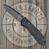 Benchmade - Mini Presidio II - Black Aluminum - Black Blade -  Axis Lock - 575BK - St. Nick's Knives