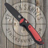Benchmade - Boost - AXIS-Assist - 3V Blade - Black - Blunt Pry Tip - Black/Red Versaflex - 591BK