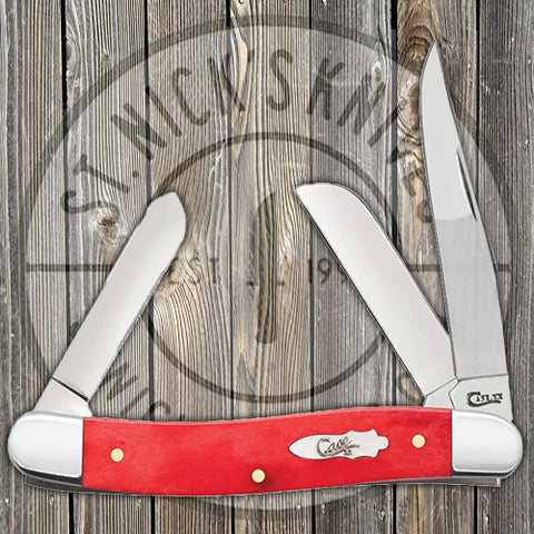 Case - Stockman - Medium - Dark Red Bone - Smooth - 60542