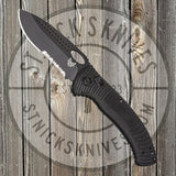 Benchmade - Tarani - Aileron - AXIS lock - Black Serrated - Laser Grip - 737SBK