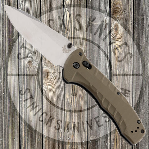 Benchmade - Turret - Olive Drab G10 - Plain Edge - CPM-S30V - 980