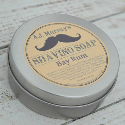 A.J. Murrays - Shave Soap - Bay Rum - AJ-SS-BR - St. Nick's Knives
