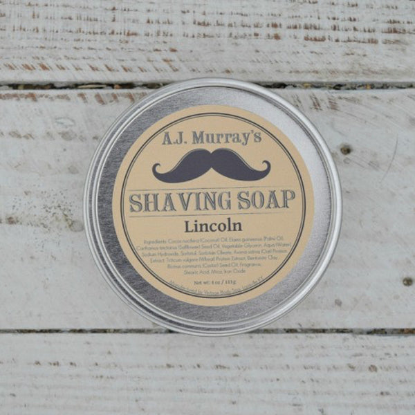 A.J. Murrays - Shave Soap - Lincoln - AJ-SS-LI