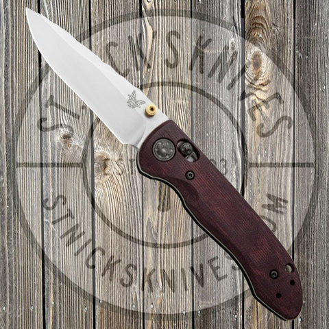 Benchmade - Foray -  Limited Edition - Red Coral Micarta - 698-1901