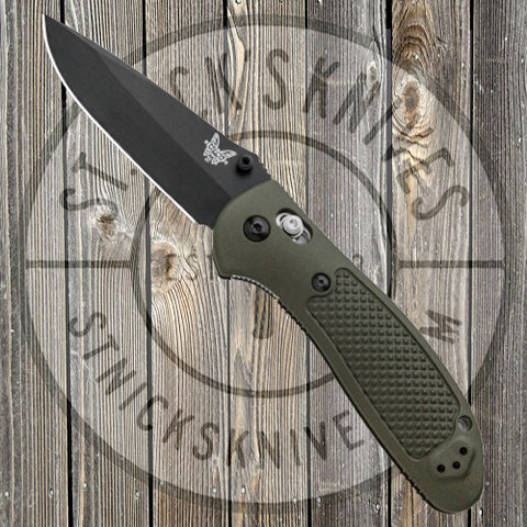 Benchmade - Griptilian - Black Blade - Plain Edge - Drop Point - 551BKOD-S30V