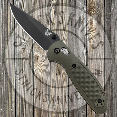 Benchmade - Mini Griptilian - Black Blade - Plain Edge - Drop Point - 556BKOD-S30V