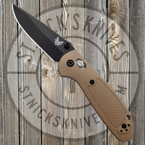 Benchmade - Mini Griptilian - Black Blade - Plain Edge - Drop Point - 556BKSN-S30V