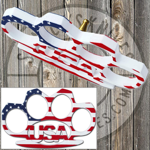Brass Buckle - American Flag - BB-USA34