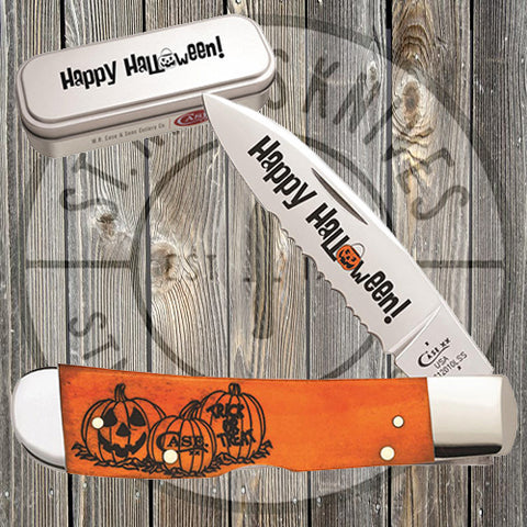 Case - 2018 Halloween Persimmon - Orange Bone - Tribal Lock - 10580