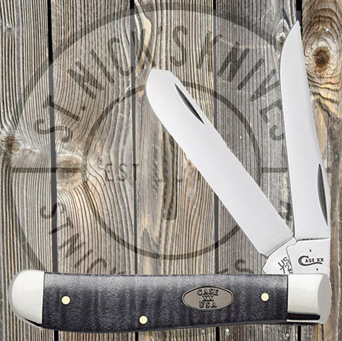 Case - Black Curly Maple - Mini Trapper - 23356 - St. Nick's Knives