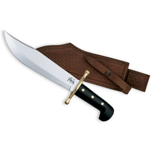 "Case - Bowie - Black Handles - 9-1/2"" Polished Blade - 00286 - St. Nick's Knives"