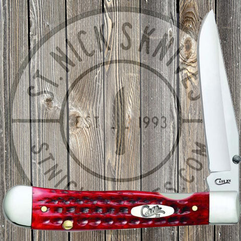 Case - Kickstart - TrapperLock - Corn Cob Jig - Pocket Worn - Old Red Bone - 10306