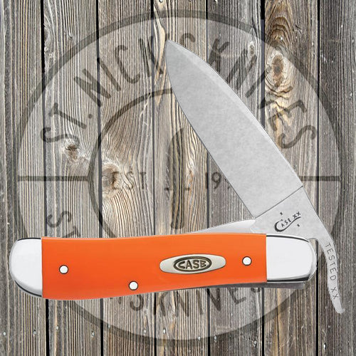 Case - Russlock - Drop Point - Orange Synthetic Handles - 80510