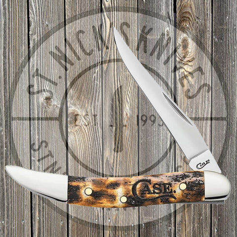Case - Small Texas Toothpick - Natural Bone - Toasted Color Wash - 67915