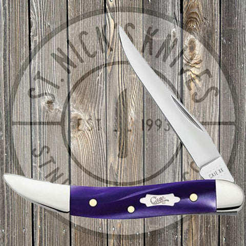 Case - Small Texas Toothpick - Smooth Wicked Purple Kirinite - 17333
