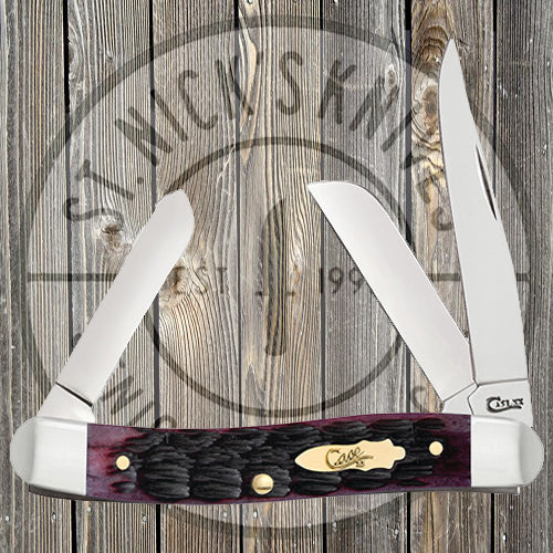 Case - Stockman - Pinched Bolster - Cabernet Bone - Crandall Jig - 25722