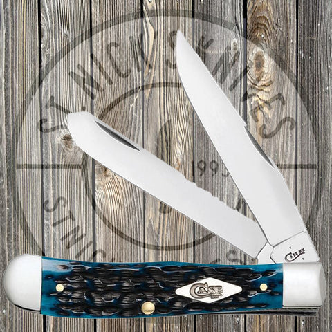 Case - Trapper - Peach Seed Jig - Ocean Blue Bone - 63630