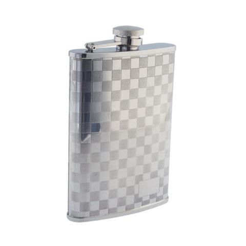 Colonel Conk - Checkerboard Pattern - 8oz Flask - 508 - St. Nick's Knives