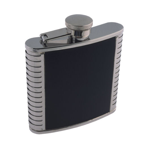 Colonel Conk - Leather Trimmed - 5oz Flask - 1205 - St. Nick's Knives