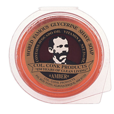 Colonel Conk - Amber Super Bar Shave Soap - 3.75oz - 123 - St. Nick's Knives