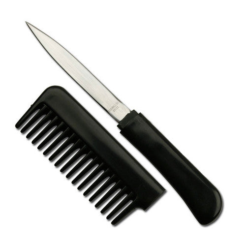 Comb Knife - Black - PK-107 - St. Nick's Knives