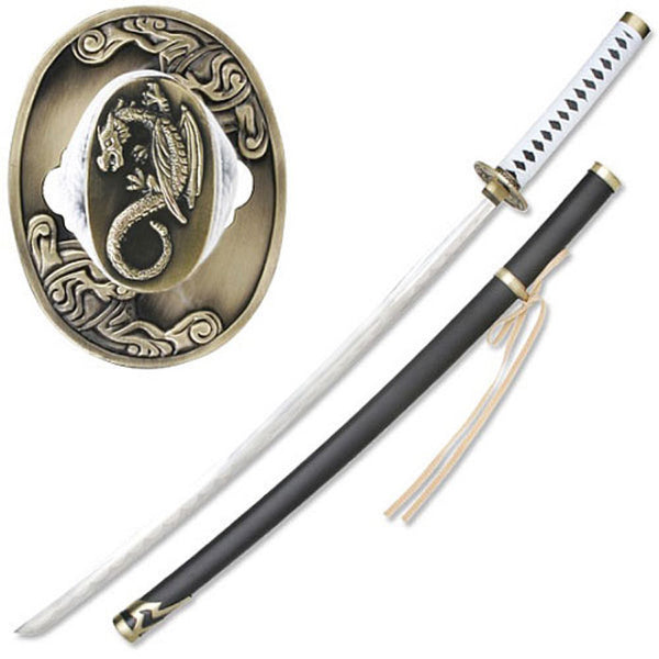 Dragon Guardian - Samurai Sword with White Ito - SW-404 - St. Nick's Knives