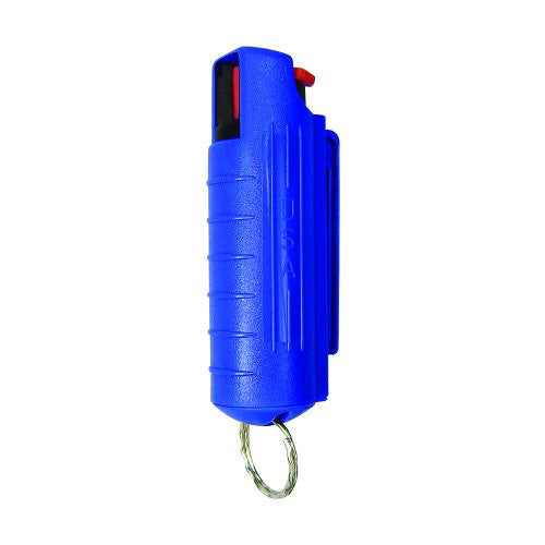 Eliminator - 1/2 oz. Pepper Spray with Hard Case and Key Ring - Blue - EHC14BLU