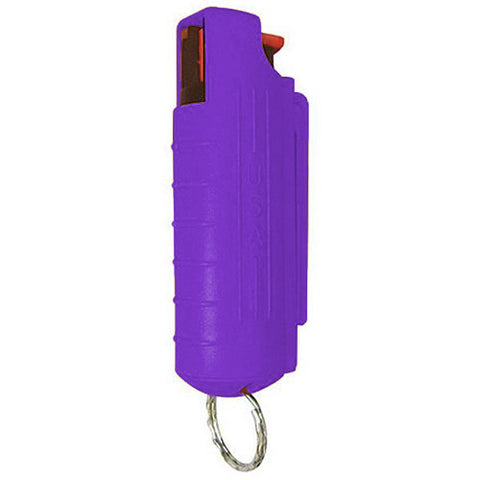 Eliminator - 1/2 oz. Pepper Spray with Hard Case and Key Ring - Purple - EHCPU14