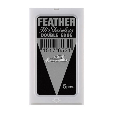 Feather - Double Edge Razor Blades - 5 Blades - FEATH-PAK - St. Nick's Knives