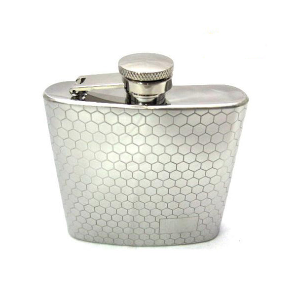Flask - 6oz - Honeycomb Pattern - 1007