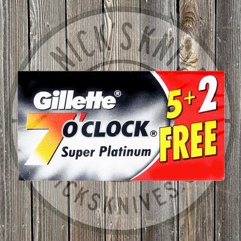Gillette - 7 O'Clock - Super Platinum - Black - 100 count - 7OC-BLACK