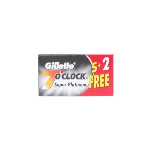Gillette - 7 O'Clock - Super Platinum - Black - 7 count - 7OC-BLACK-PAK