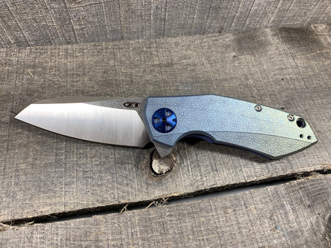 "Zero Tolerance 0456 - ""Flower of Life"" - St. Nick's Custom Anodization"
