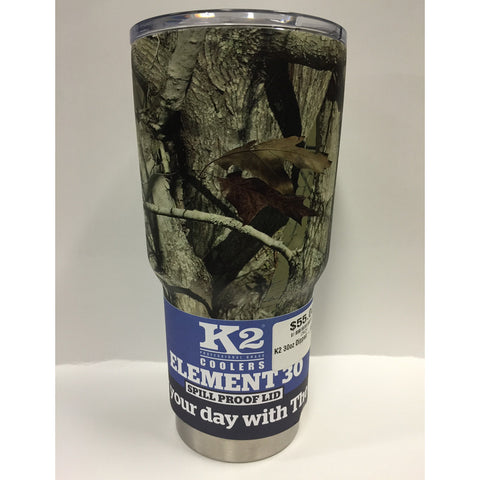 K2 Cooler - Element 30 - Camo Hydrographic - 30oz - Spill-Proof Lid - SSS30CUS - St. Nick's Knives