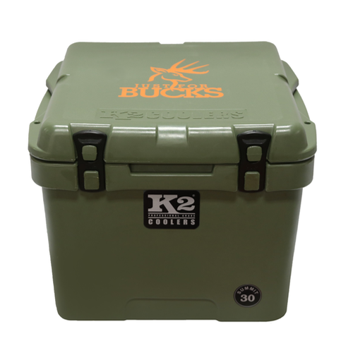 K2 Coolers - Summit - 30qt - Just for Bucks - Duck Boat Green - S30GN - St. Nick's Knives
