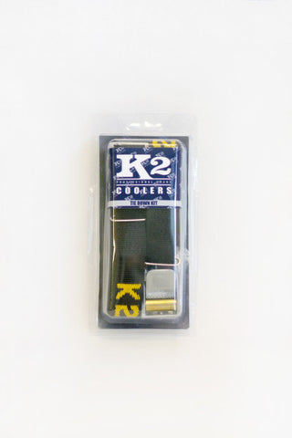 K2 Coolers - Tie Down Kit - Includes 2 Straps & Hardware - TIEDN - St. Nick's Knives