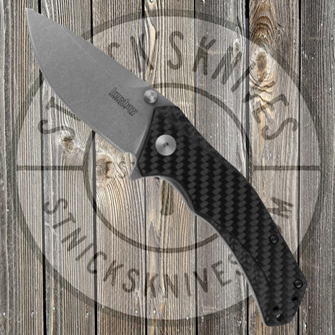 Kershaw - Sprint Run - Knockout - Plain Edge - M390 - Carbon Fiber - 1870CFM