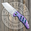 "Kizer Mini Sheepdog - ""Threads"" -  St. Nick's Custom Anodization"