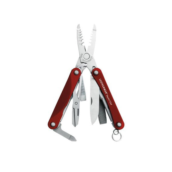 Leatherman - Squirt ES4 - Keychain Electrician's Mini Multi-Tool-  Red - 831198