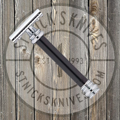 Merkur - Barber Pole - Safety Razor - Black Handle - 38-BLACK (38011)