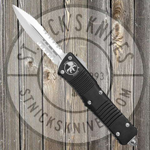 Microtech - Combat Troodon - D/E - Satin Hardware - Partially Serrated - 142-5