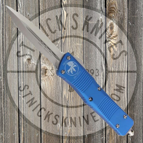 Microtech - Combat Troodon - Satin Standard - Double Edge - Blue - 142-4BL