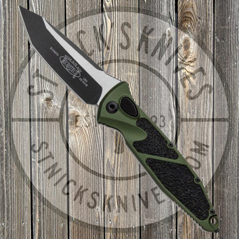 Microtech - Socom Elite - Tanto Edge - Automatic - Black Standard - OD Green Chassis - 161A-1OD