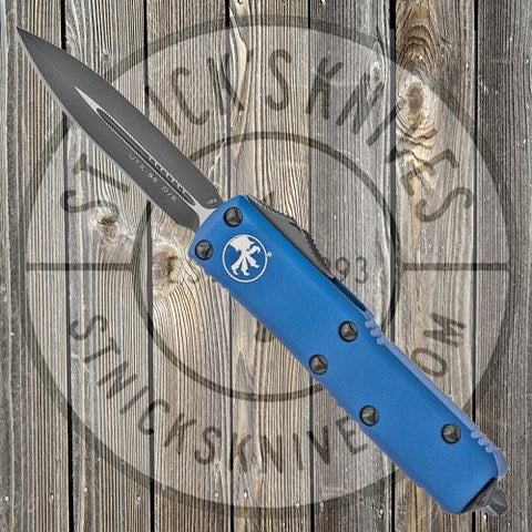 Microtech - UTX-85 - Double Edge - Black Standard - Blue Chassis - 232-1BL