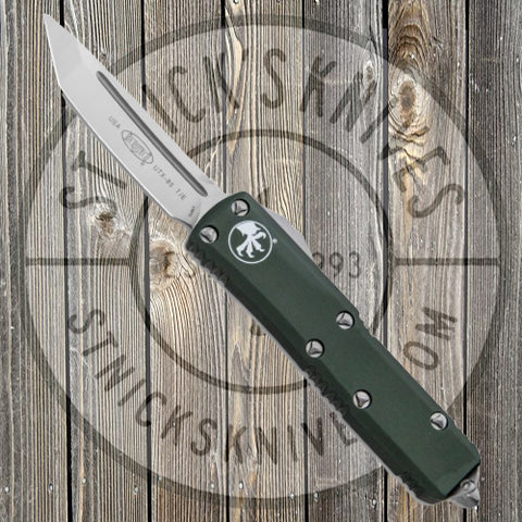 Microtech - UTX-85 - Tanto Edge - Satin Hardware - OD Green Chassis - 233-4OD
