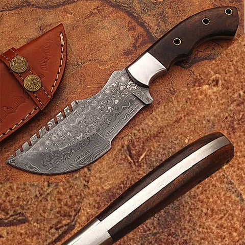 Mini Tracker with Damascus Blade and Limited Edition Handle - DM-2264