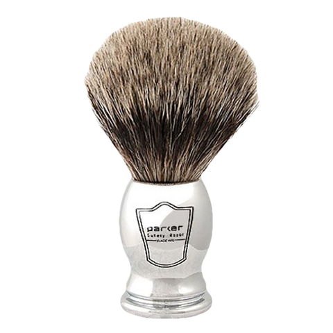 Parker - Safety Razor - Chrome Handle - Pure Badger Brush - CHPB